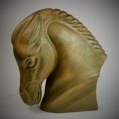 Art Deco Style Ceramic Horse Sculpture