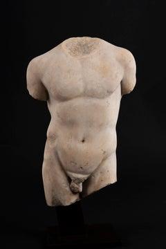 Athlete bust - Headless torso, Ist-IIIrd s.ap.J-C, white marble, antiquities