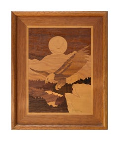 Bald Eagle Marquetry Inlay