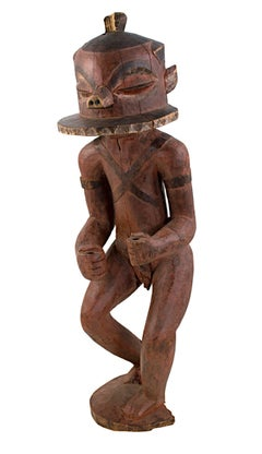 """BaPende Statue - Zaire,"" Carved Wood Sculpture created in Africa circa 1940"