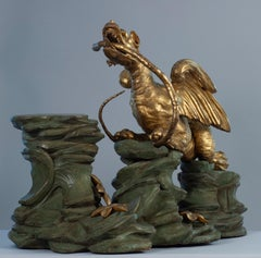 Base with gilded dragon intended for a chinese vase