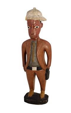 """""""Baule Colonial Sculpture Ivory Coast,"""" Carved Wood Statue created circa 1910"""