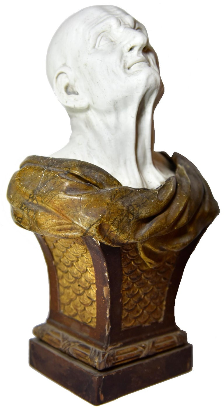 Biscuit bust of the pseudo-Seneca after Guido Reni, late 18th century, offered by La Sculpture Françoise