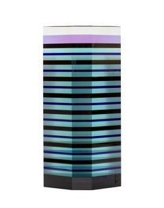 Blue Trapezoid, Glass Table-Top Sculpture