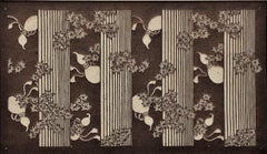 Bottle Gourds and Maple Leaves on Vertical Panels