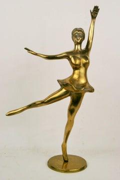 Brass Ballerina Sculpture
