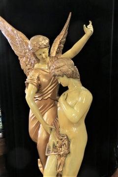Bronze Cupid and Psyche Statue
