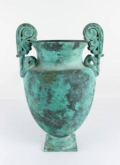 Bronze Garden Urn after the Antique