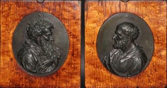 Bronze Medallions of Plato and Aristote