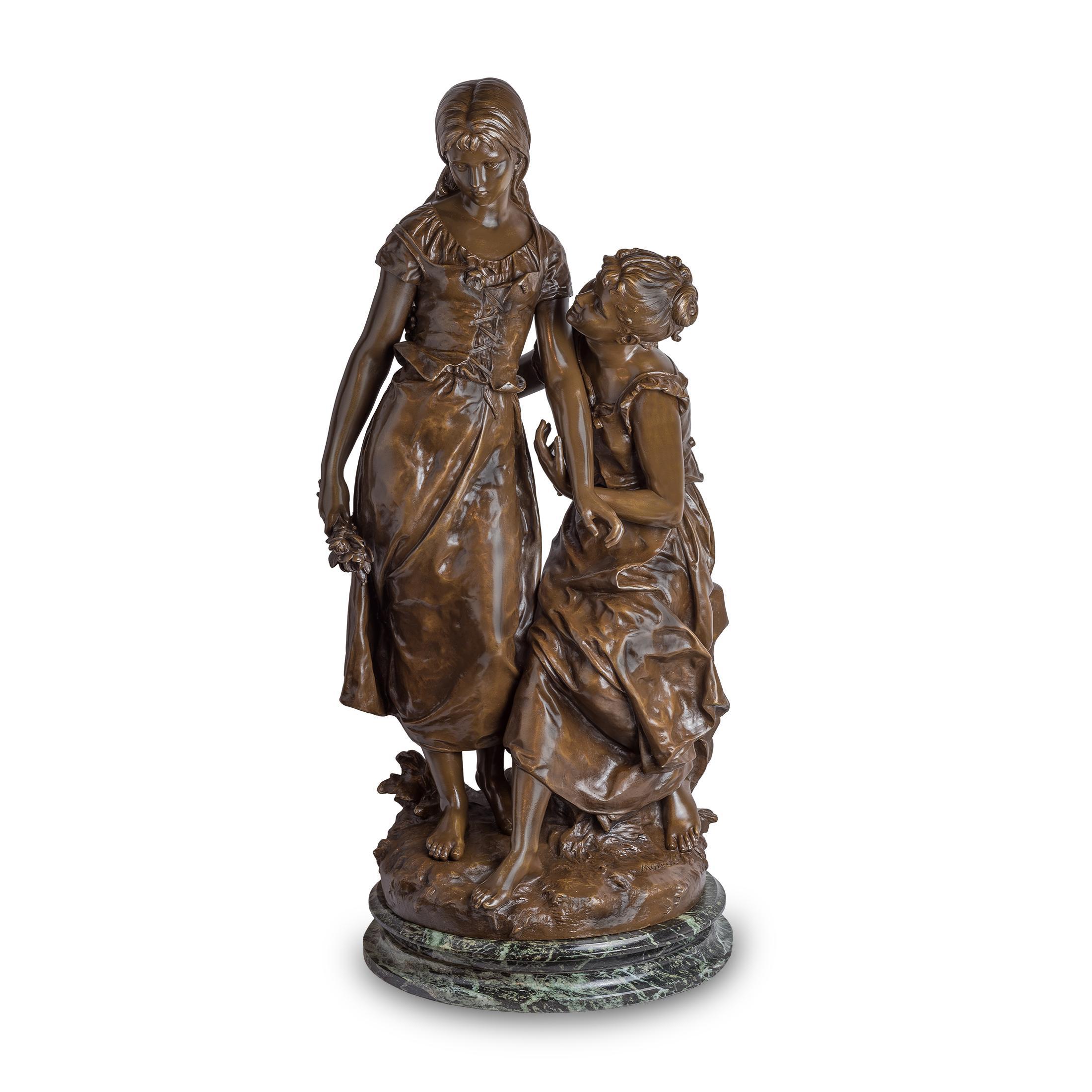Bronze sculpture of Two Beauties