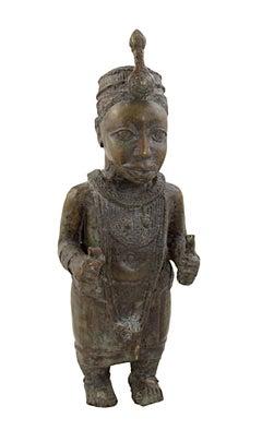 """Bronze Statue - Ife, Nigeria,"" Bronze Sculpture created circa 1920s"