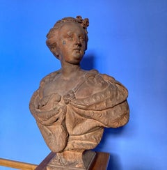Bust of a Lady, thought to be Elisabeth Petrowna, Terracotta Sculpture