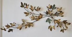 C. Jeré Metal Wall Sculpture of Stylized Branches and Leaves