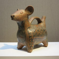 c.200 A.D Vicus Peruvian whistling dog pre-Columbian pottery figure sculpture