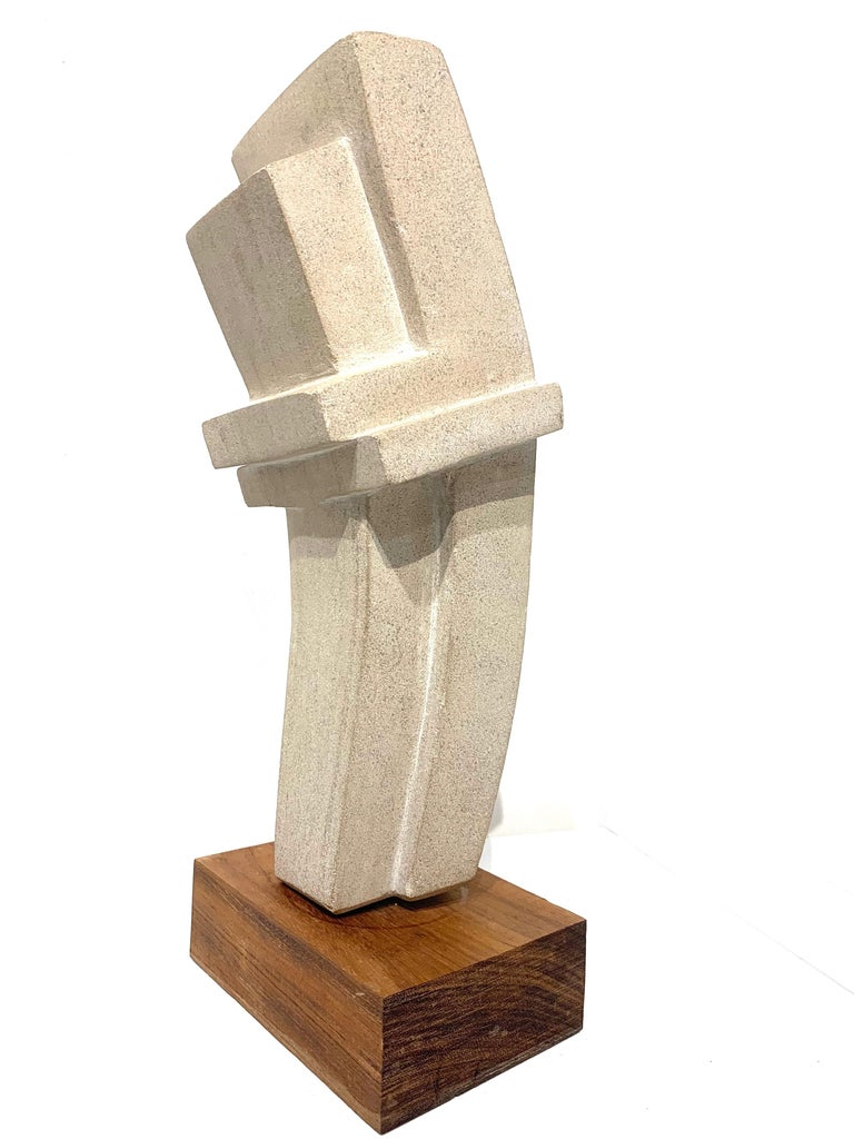 Cast Concrete Sculpture by Bakst For Sale 1
