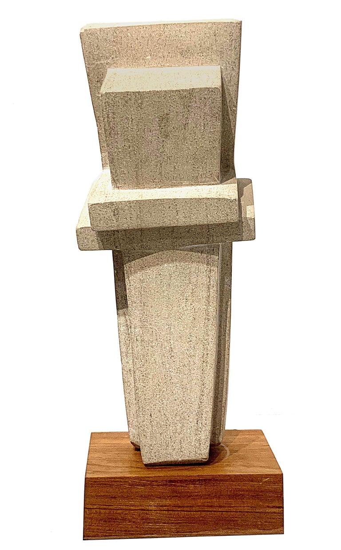 Cast Concrete Sculpture by Bakst For Sale 4