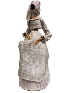 Ceramic Veiled Female Sculpture