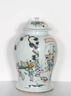 Children Playing, Chinese Painted Urn