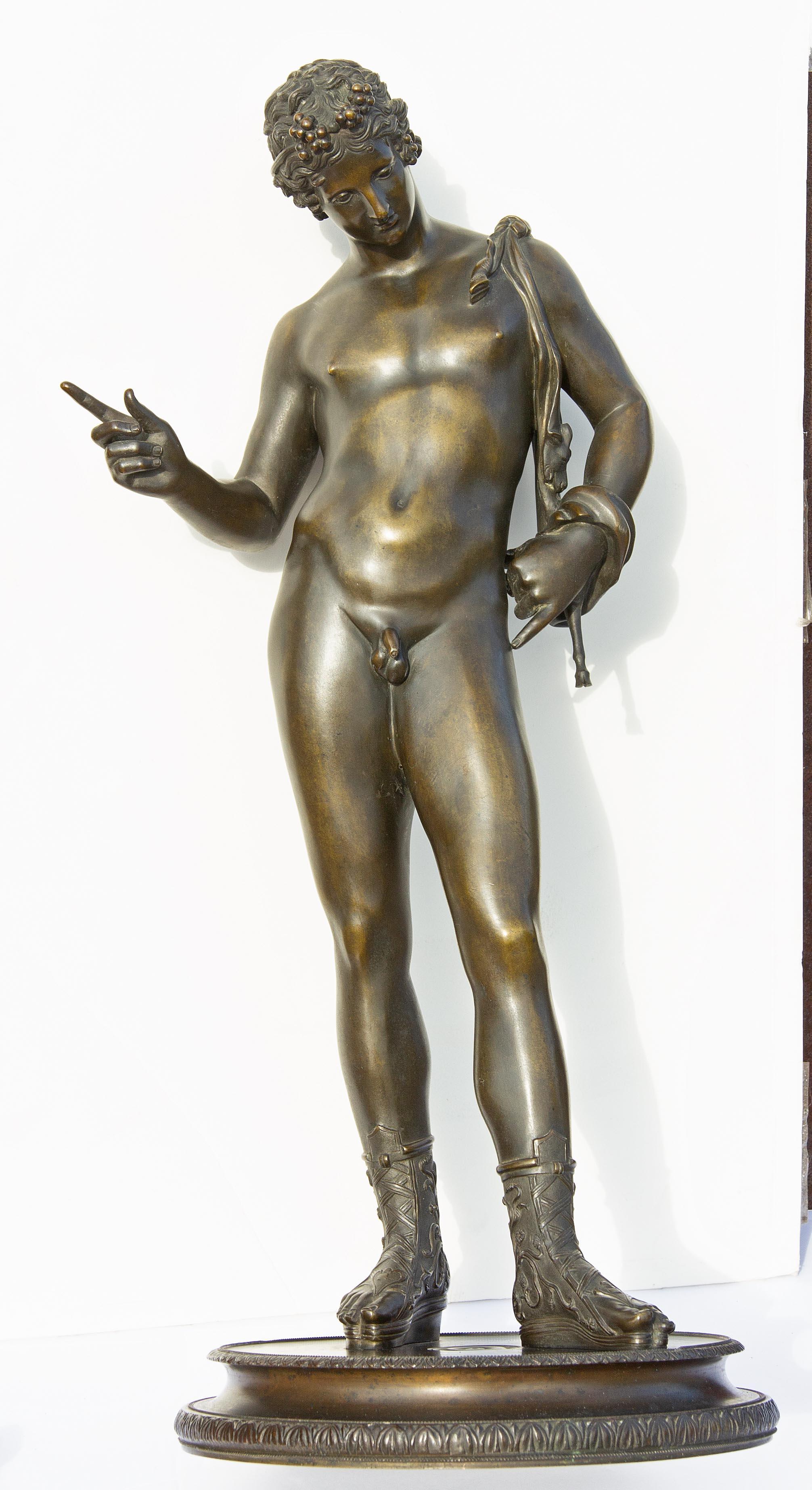 Classical Grand Tour Bronze Sculpture of Narcissus