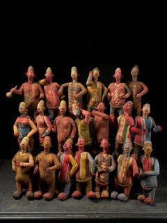 Collection of 20 Decorative and very Expressive Bembe Mudzini Reliquary Figures