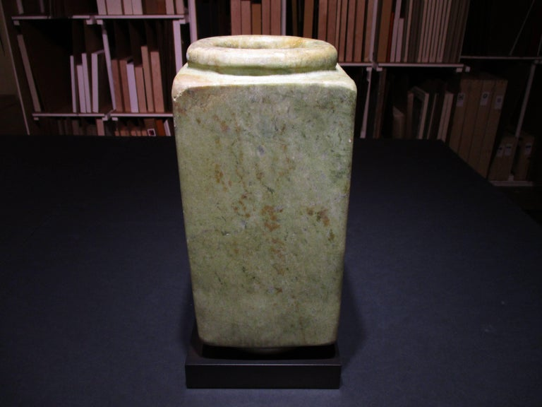 Cong Prismatic Cylinder (48187) - Sculpture by Qijia Culture
