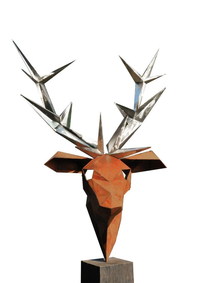"""""""Deer contemporary sculpture"""" - Stefan Traloc - Mixed Media Art by Stefan Traloc"""