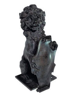 Continental Bronze Figure of a Standing Lion, late 19th/early 20th C