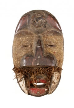 """Dan Guéré""African Tribal Art Mask Sculpture from Ivory Coast,Early 20th Century"