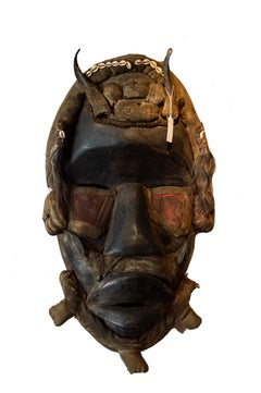 """Dan Mask,"" Carved Wood created in Liberia circa the 1950s"