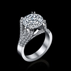 Diamond ring 5.2 Carat GIA Certified Brilliant 6.65 total weight 100k+ J-SI1