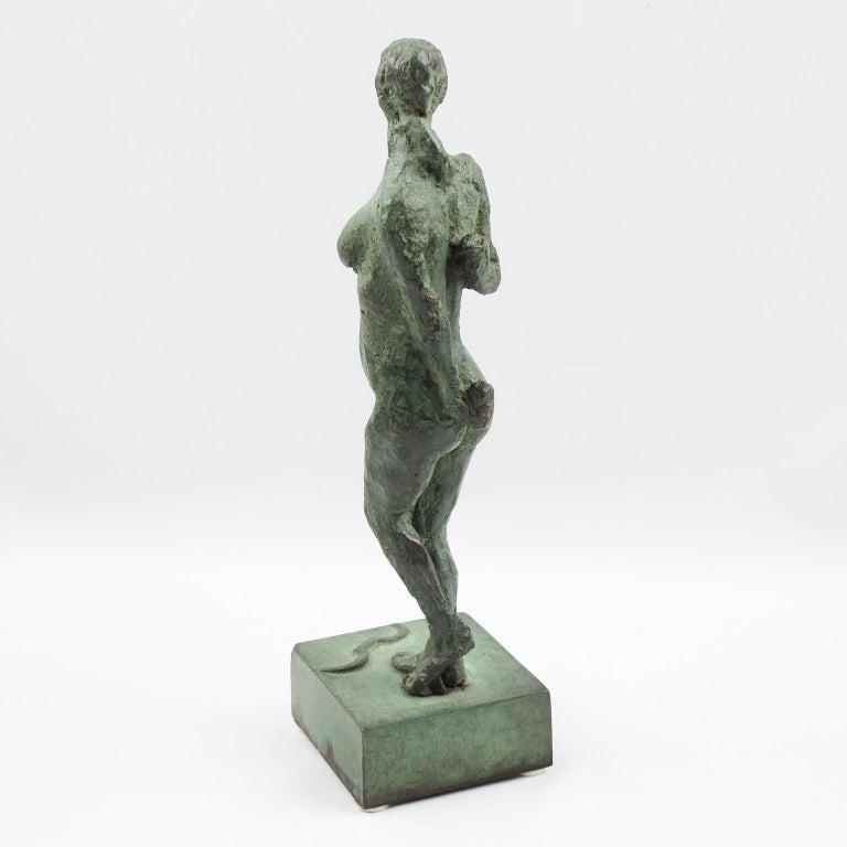 Diana the Huntress French Art Deco Artemis Bronze Sculpture For Sale 2