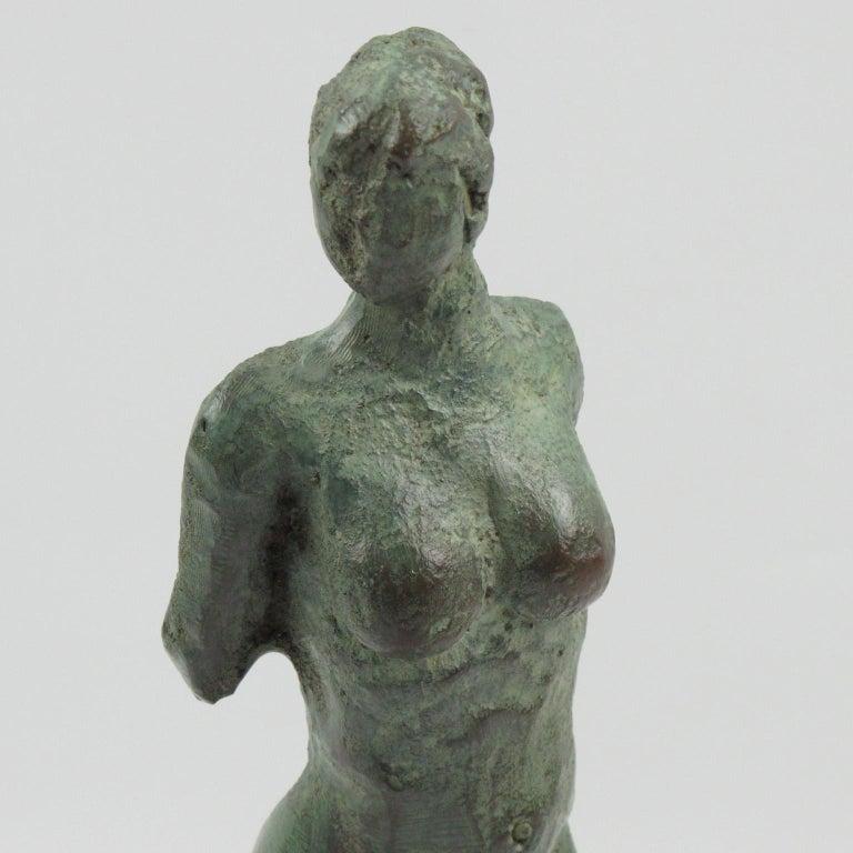 Diana the Huntress French Art Deco Artemis Bronze Sculpture For Sale 3