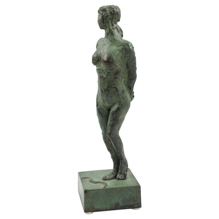 Unknown Figurative Sculpture - Diana the Huntress French Art Deco Artemis Bronze Sculpture