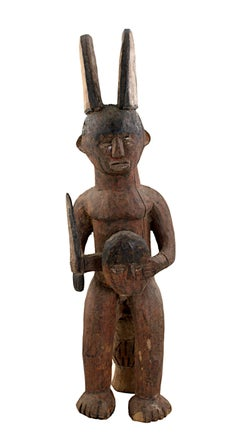 """""""Ekamka Fetish - Nigeria,"""" Carved Wood Figure created circa 1910"""