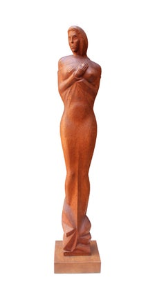 Expressionist Wood Sculpture 1920's