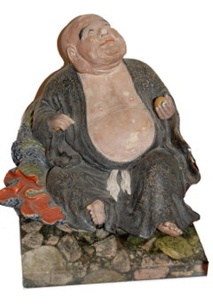 Famille Rose Bouddha;  Period Kuang-Hsu (circa 1874-1876); sold with certificate
