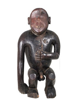 """""""Fang Tribe Gabon M'boula Statue,"""" Carved Wood and Ivory"""