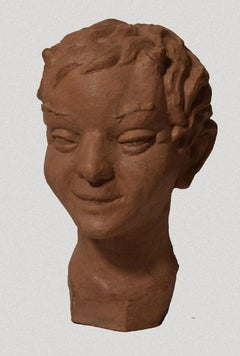 Faun - Original Terracotta Sculpture - 20th Century