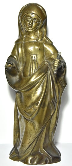 Figure of a saint in bronze, late 15th century, southern Netherlands