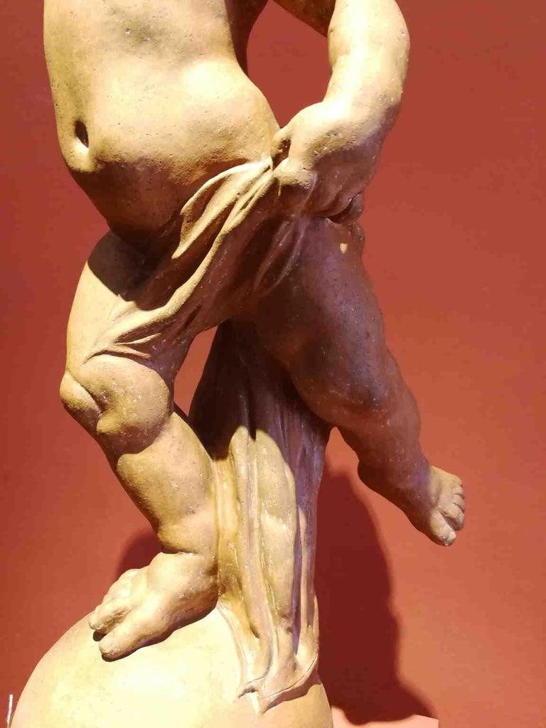 Florentine artist After Verrocchio, Putto, 17th, terracotta For Sale 1