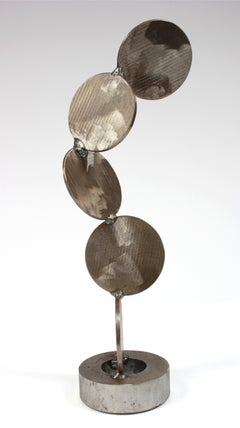 """Four Disks"" Welded Steel Sculpture"