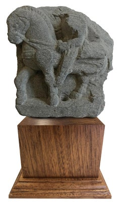 Fragment Prince Siddhartha Sculpture - Grey Schist