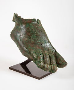 Fragment of a right foot, Roman period, 3rd century AD, sculpture, antiquities