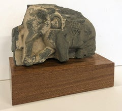 Fragment  of an Elephant - Gandhara - Sculpture - Grey Schist - 1-2nd Century