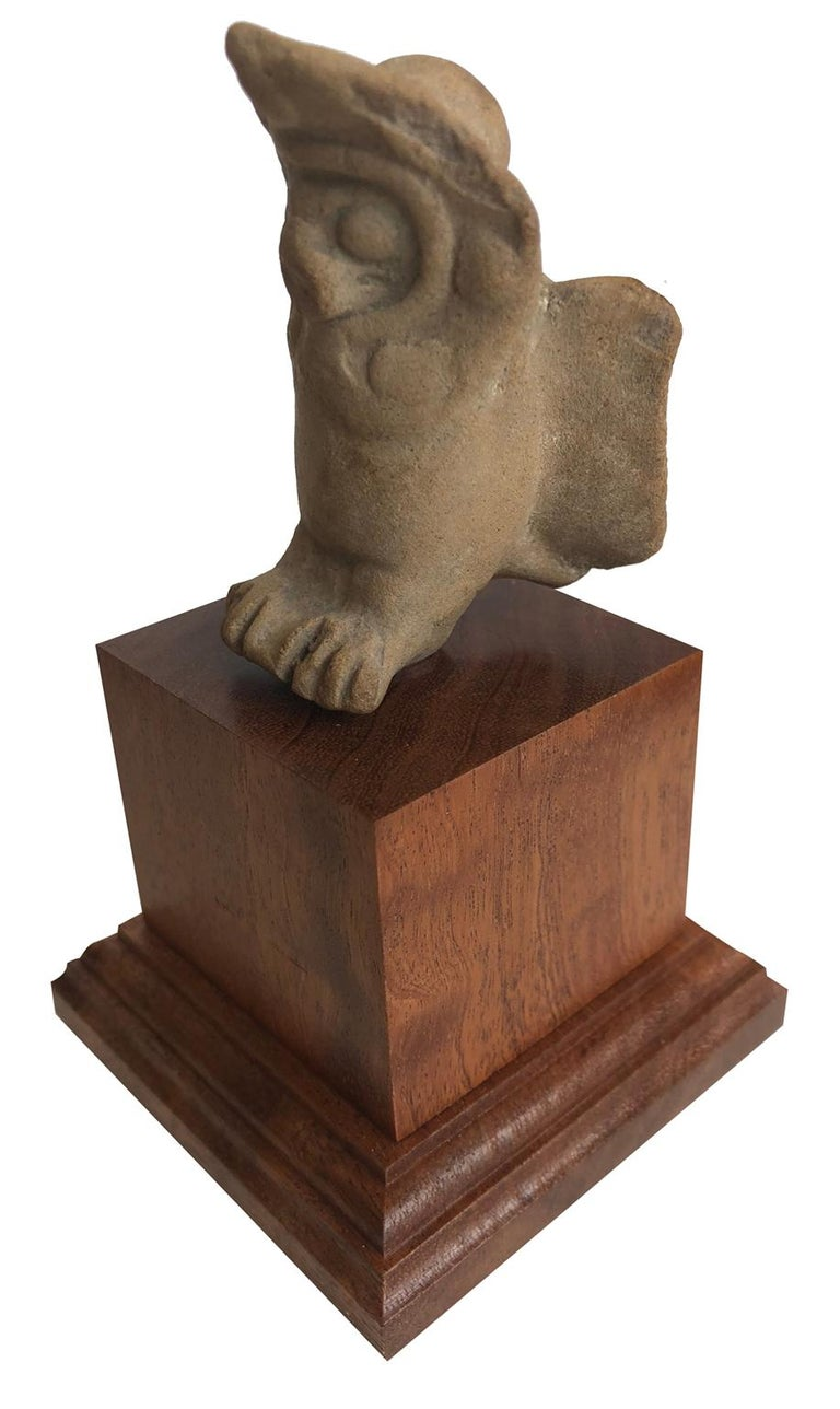 Fragment of an Owl - Mesopotamia - Circa 1000 BC - Other Art Style Sculpture by Unknown