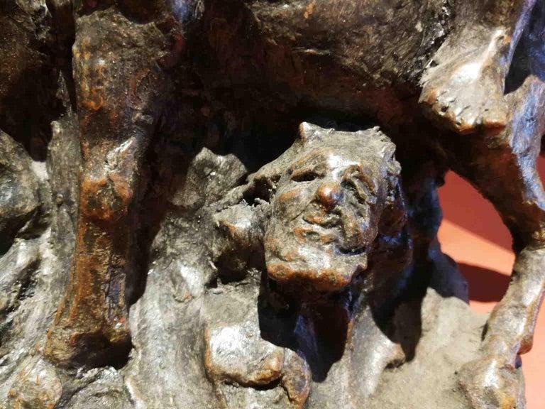 French Artist, Mythological scene, late 19th, terracotta For Sale 5