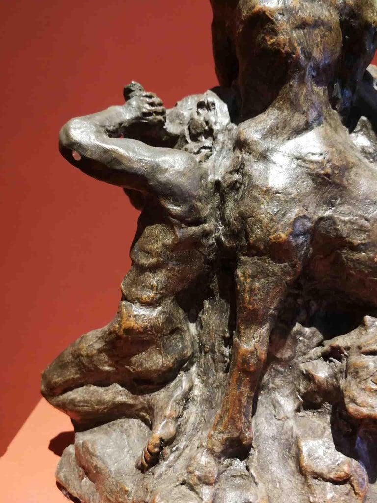French Artist, Mythological scene, late 19th, terracotta For Sale 6