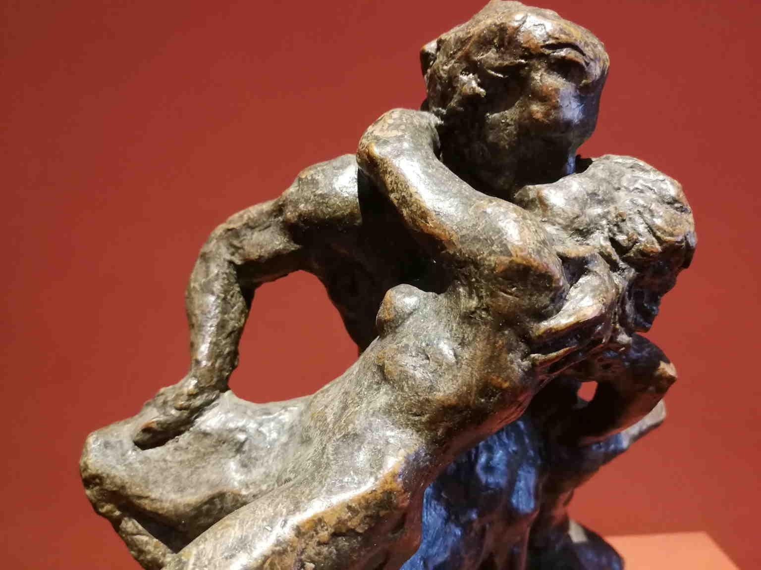 French Artist, Mythological scene, late 19th, terracotta