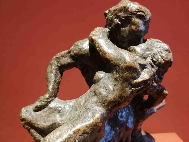 Unknown Nude Sculpture - French Artist, Mythological scene, late 19th, terracotta