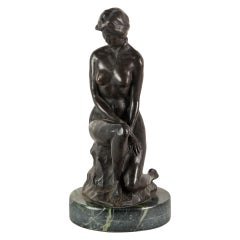 French Bronze Sculpture, Nude Woman, Italy 19th Century France